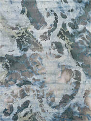 Nourison Prismatic Prs14 Grey - Slate Area Rug