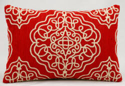 Nourison Pillows Wool Q5116 Vermillion