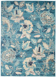 Nourison Tranquil Tra02 Turquoise Area Rug