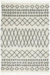 Nourison Moroccan Shag Mrs02 White Area Rug