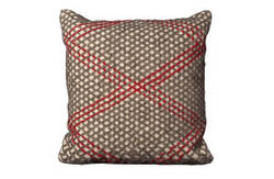 Nourison Mina Victory Pillows Felt R1003 Ivory