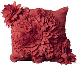 Nourison Mina Victory Pillows Felt R1034 Coral