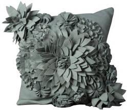 Nourison Mina Victory Pillows Felt R1034 Sky Blue