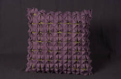 Nourison Mina Victory Pillows Felt R2461 Aubergine