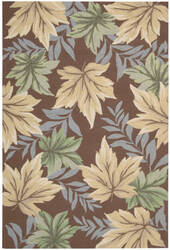 Nourison Rainforest RAI04 Mocha Area Rug