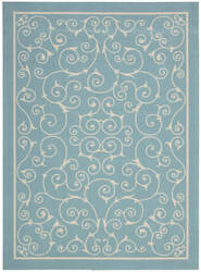 Nourison Home And Garden Rs019 Light Blue Area Rug