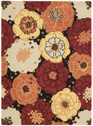 Nourison Home and Garden RS-021 Black Area Rug