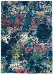 Nourison Fusion Fss17 Blue Multicolor Area Rug