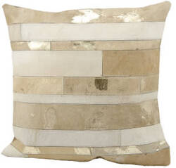 Nourison Pillows Natural Leather Hide S1160 Beige