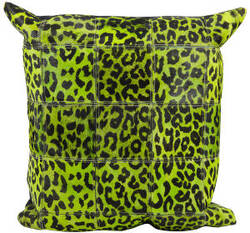 Nourison Pillows Natural Leather Hide S1500 Green