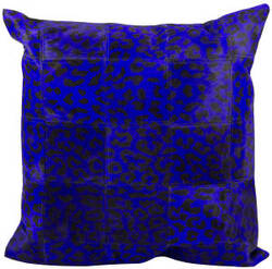 Nourison Pillows Natural Leather Hide S1500 Purple