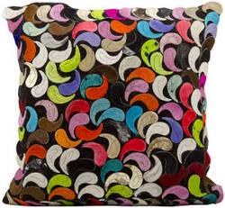 Nourison Pillows Natural Leather Hide S1981 Multicolor