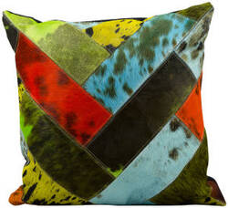 Nourison Pillows Natural Leather Hide S2039 Multicolor