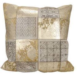 Nourison Mina Victory Pillows S6078 Beige Gold