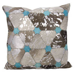 Nourison Mina Victory Pillows S6100 Grey Silver