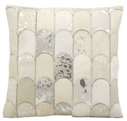 Kathy Ireland Pillows S6275 White Silver