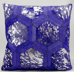 Michael Amini Pillows S6280 Purple Silver