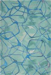 Nourison Symmetry Smm05 Aqua Blue Area Rug