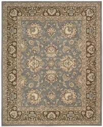 Nourison Silk Touch Sch04 Blue Brown Area Rug