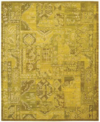 Nourison Silk Infusion Sif02 Yellow 605 Area Rug
