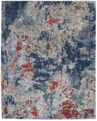 Nourison Artworks Atw01 Navy - Brick Area Rug