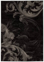 Nourison Soho Soh05 Black Grey Area Rug