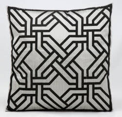 Kathy Ireland Pillows Sp007 Silver - Black