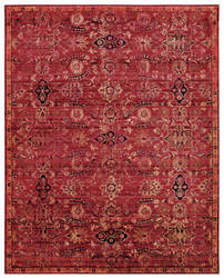 Nourison Timeless Tml07 Red Area Rug