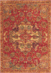 Nourison Jewel Jel01 Red Area Rug