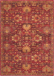 Nourison Jewel Jel02 Brick Area Rug