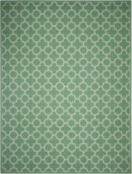 Nourison Sun And Shade Snd21 Emerald Area Rug