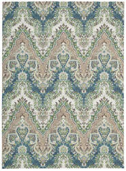 Nourison Wav16 Treasures Wtr02 Prussian Area Rug