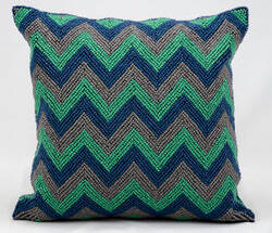 Kathy Ireland Pillows Z1101 Blue Grey