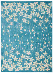 Nourison Tranquil Tra04 Turquoise Area Rug