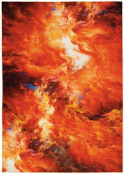 Nourison Le Reve Ler05 Red Flame Area Rug