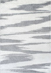 Nuloom Smantha Zebra Stripes Grey Area Rug