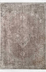 Nuloom Vintage Medallion Cantrell Light Brown Area Rug