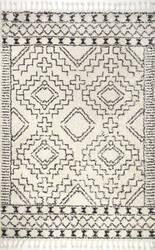 Nuloom Vasiliki Moroccan Off-White Area Rug