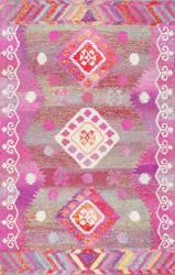 Nuloom Hand Tufted Tribal Valene Pink Area Rug