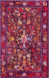 Nuloom Gertrudis Medallion Purple Area Rug