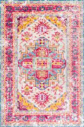 Nuloom Vintage Chantay Pink Multi Area Rug