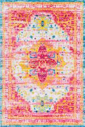 Nuloom Vintage Bertram Pink Multi Area Rug