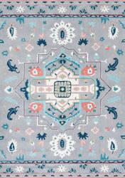Nuloom Dorla Floral Grey Area Rug