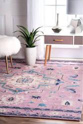 Nuloom Dorla Floral Pink Area Rug