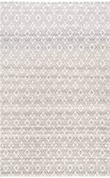 Nuloom Diamond Trellis Ayesha Grey Area Rug