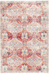 Nuloom Vintage Abstract Nagle Red Area Rug