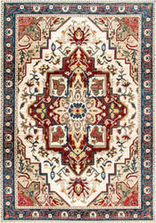 Nuloom Vintage Medallion Lakendra Red Area Rug