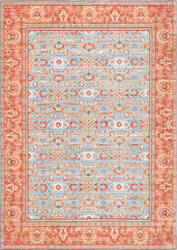Nuloom Vintage Berniece Fringe Light Blue Area Rug