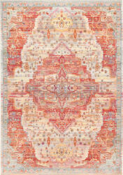 Nuloom Vintage Medallion Rose Multi Area Rug