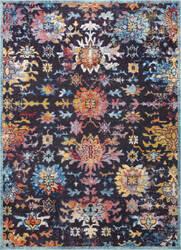 Nuloom Vintage Floral Shawnee Navy Area Rug